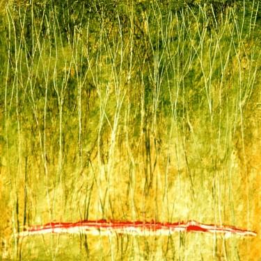 Bambous, encaustique et huile sur toile, 24 X 24 po (vendu)