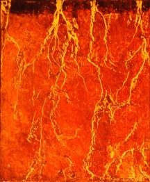 Germination # 1, encaustique et huile sur toile, 12 X 10 po (vendu)
