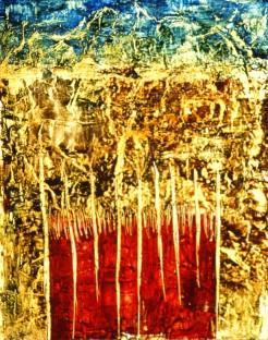 Versant nord, encaustique et huile sur toile, 48 X 38 po (vendu)