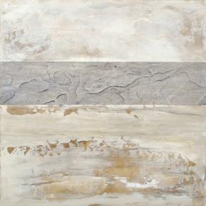 Roche fossile, Techniques mixtes sur toile, 12 X 12 po, 2014 (vendu)
