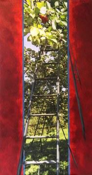 Rouge-Pomme _2015_Impression numérique de qualité archives et acrylique sur toile _68x36po