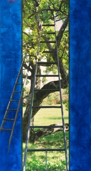 Bleu-2 échelles_2015_ Impression numérique de qualité archives et acrylique sur toile_68x36po
