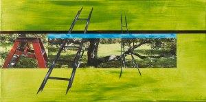Escabeau-Échelles_2015_Impression numérique de qualité archives et acrylique sur toile_12x24po