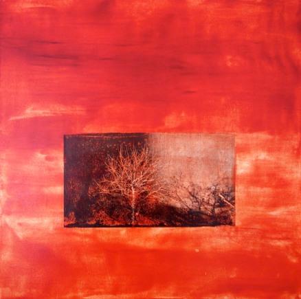 Ombre et lumière, Techniques mixtes sur toile, 30x30po, 2012