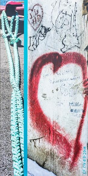 Coeur rouge-Cordage_Impression numérique et acrylique, sur papier coton marouflé sur bois_40po X 20 po